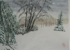 CHINESE WATER COLOR PAINTING BY HAMISH Landscape Canada