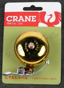Soma Crane SUZU Classic Brass Bicycle Bell Big Sustained Sound Vintage Style