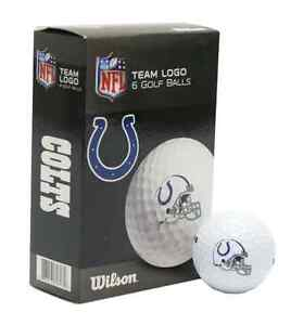 INDIANAPOLIS COLTS WILSON ULTRA GOLF BALLS 6 PACK BRAND NEW FREE SHIPPING