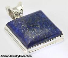 LAPIS LAZULI PENDANT 925 STERLING SILVER ARTISAN JEWELRY COLLECTION Y097B