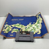 Nobunaga's Ambition Super Nintendo SNES  AUTHENTIC Tested Working & Poster
