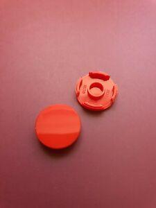 2x Genuine Lego 2 x 2 round Tile -14769 - Red