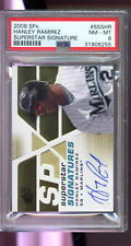 2008 SPx Hanley Ramirez Superstar Signature Autograph AUTO Graded Card PSA 8
