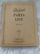 Vintage Packard Parts List 1935-1941 Car Truck Engine Manual Guide Book