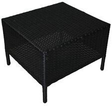 KMH® Polyrattan Tisch Beistelltisch Couchtisch Ablage Tisch Gartentisch schwarz