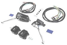 Handlebar Control Switch Kit Black Harley Ironhead Shovelhead Chopper FX XL