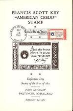 #1142-C2 First Day Ceremony Program Francis Scott Key Credo