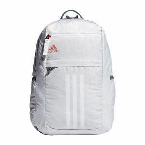 adidas Unisex League 3 Stripe Backpack One Size Jersey White/ Rose ...