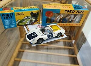 BOXED MINT Corgi 330 Porsche Carrera 6 1967 - 1969 Corgi Re-issue + Figures