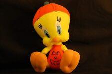 "Looney Tunes Tweety Bird 9"" Plush Pumpkin Stuffed Cartoon Lovey Cute Halloween"