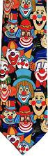 Colourful Circus Clowns Sleeved Polyester Novelty Tie Gift