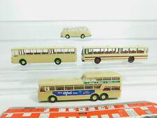 BN130-0,5 #4x Brekina H0 / 1:87 Bus : Kässbohrer + Mercedes / MB + Büssing, Mint