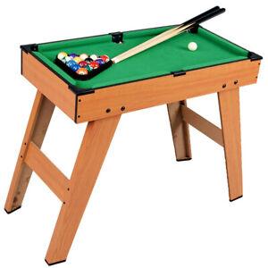 Kids Pool Table Wooden Junior Snooker Billiard Indoor Sports Gaming Games Play