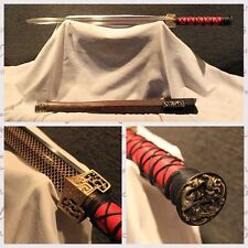 "TOP Quality Chinese Sword ""HAN JIAN"" Manganese Steel Katana Sharp Blade"