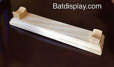 Desktop Baseball Bat Rack Stand Display Holder in Natural Finish