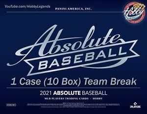 ARIZONA DIAMONDBACKS 2021 ABSOLUTE Baseball 1 Case (10 Box) Team Break #1
