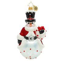 NEW Christopher Radko A SUPERB SNOWMAN Christmas Ornament 1020139