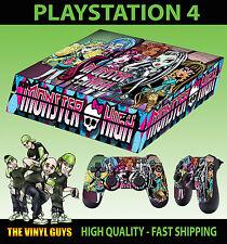 PS4 Skin Monster High Vampire Werewolf Mummy Sticker + Pad decal Vinyl LAID