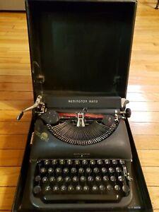 Vintage Remington Rand DeLuxe Model 5 Portable Typewriter