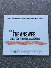 Card Magic Trick The Answer By Ron Salamangkero