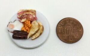Dolls House Miniature  Fried Breakfast (DD148)  Additional Items P&P FREE