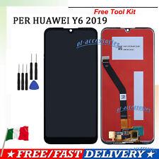 Display LCD per Huawei Y6 2019 MRD-LX1 LX2 Nero Touch Screen Vetro Schermo GLS
