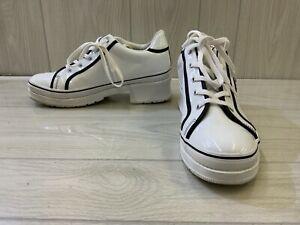 Skechers Heartbeat- Loud 74362 Platform Sneakers, Women's Size 11M, White