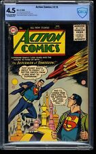 Action Comics #215 CBCS VG+ 4.5 Cream To Off White