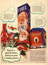 1942 WW2 era AD CAMEL CIGARETTES for CHRISTMAS Jolly Santa! (111115)