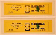 Bananas Refrigerator / HO Cardboard Advertising Billboard Sides for Freight Cars