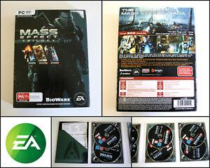Genuine Mass Effect Trilogy 6 Disc Set PC DVD Game