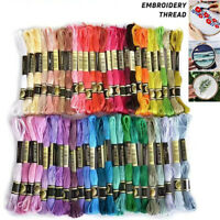 Multi-Color Embroidery Thread Cross Stitch Floss Cotton Sewing Skeins Crafts Hot