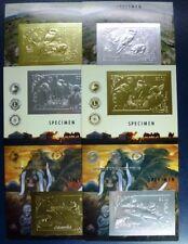 Mongolei Mongolia 1993 Tiere Rotary Gold Silber Blocks 222-227 Specimen MNH / 22