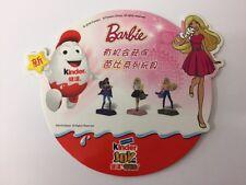 Kinder surprise joies Barbie Filles Kinderino PAH Display Carte de la Chine RARE