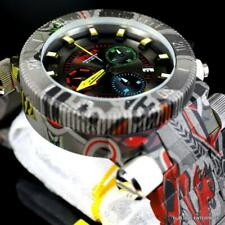 Invicta Coalition Forces Graffiti Hydroplated Gray Steel 52mm Chrono Watch New