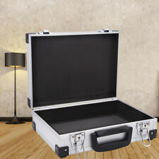 Small Aluminum Box Carrying Case Briefcase with Key Aluminum Storage Box Toolbox