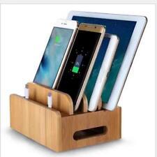 Station De Recharge En Bois Support Téléphone Portable Organisateur Corde
