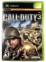 FREE SHIPPING! Call of Duty 3 (Microsoft Xbox Game 2006) Complete w/ Manual COD3