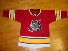 Youth Boys Girls XL Chicago Wolves Hockey Jersey Maroon Red