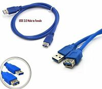 Super Speed USB 3.0 Gigabit Extension Data Sync Cable Male Female Wire 1m 2m 3m