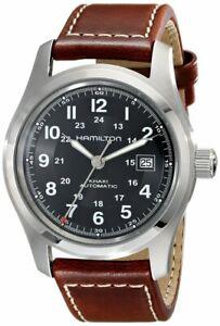 HAMILTON Khaki Field 42MM Brown LTHR Automatic Men's Watch H70555533