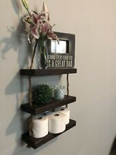 Shabby Chic Rope Shelves Farmhouse Decor