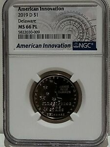 2019-D Delaware AMERICAN INNOVATION DOLLAR NGC MS-66 PL Classifying the Stars