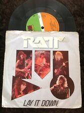 "RATT - LAY IT DOWN. Rare. Original 7"" vinyl single."
