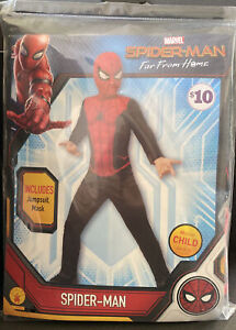 RUBIES MARVEL SPIDER-MAN FAR FROM HOME SPIDER-MAN COSTUME SIZE Medium 8-10 NEW