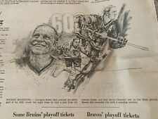 Bobby Hull Scores NHL Record 600th Goal Globe Sports 3/26/1972