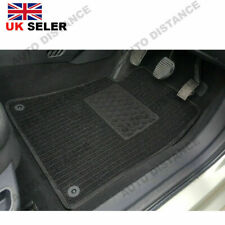 Ford Focus (MK3) (2 Clips) Tailored Quality Black Carpet Car Mats With Heel Pad