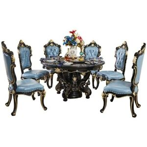 Marble Dining Table Luxurious Round Dining Table Chair Combination House Home