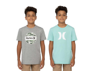 New Hurley Youth 2-pack Short Sleeve Tee , Gray/Teal