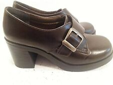 Hot Tomato Womens Size 6.5 Black Buckle Oxford Shoes